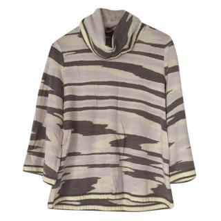 Missoni wool roll neck top