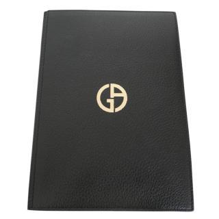 Giorgio Armani A5 Black Leather Notebook