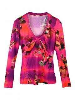 Galliano floral print top