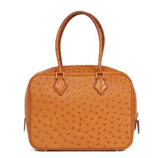Hermes Ostrich Leather Gold Plume 28 Tote Bag