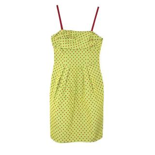Moschino Cheap and Chic Polka Dot Strap Dress