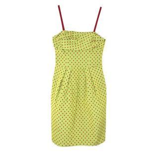 Moschino Cheap and Chic Polka Dot Strap Dress
