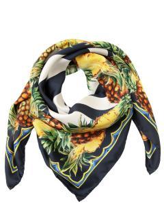 Dolce & Gabbana Striped Pineapple Print Wrap Scarf
