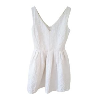 Raoul White Jacquard Mini Dress