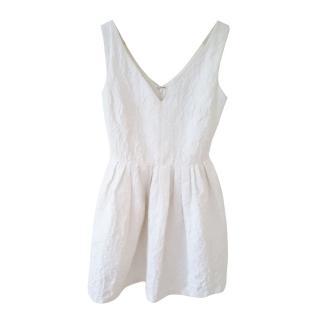 Raoul White Jacquard Mini Dress