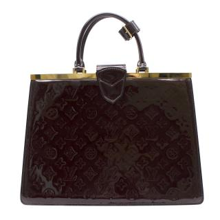 Louis Vuitton Amarante Monogram Vernis Deese GM Handbag