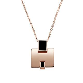 Hermes Eileen Rose-Gold Plated Necklace