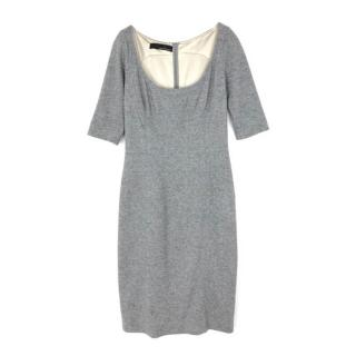Amanda Wakeley Tailored Grey Wool Dress