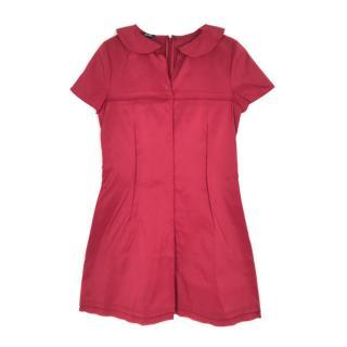 Jil Sander raw-edge red dress