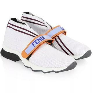 Fendi White Rockoko Trainers - Current