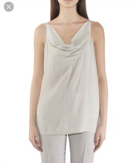 Rick Owens light grey linen waterfall top