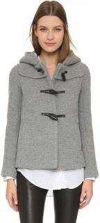 Paul and Joe Sister grey short duffle jacket