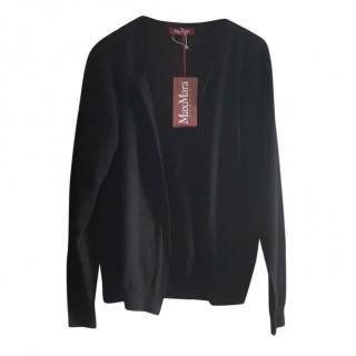 MaxMara black wool cardigan