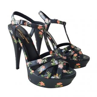 Saint Laurent Floral Tribute Sandals