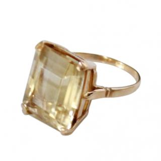 Vintage Citrine Cocktail Ring