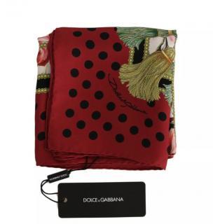 Dolce & Gabbana Roses print silk scarf.