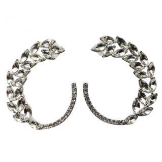 Oscar De La Renta large crystal earrings