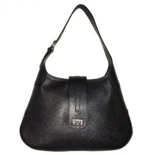 Salvatore Ferragamo Saffiano Leather Hobo Bag
