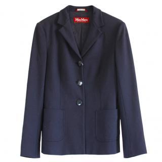 Max Mara notch-lapel navy jacket