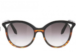 Victoria Beckham Cut-Out Tortoiseshell Sunglasses