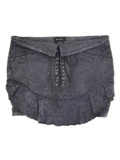 Isabel Marant Embroidered Lace-Up Mini Skirt