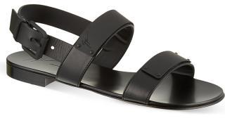 Giuseppe Zanotti Black Leather Plate Sandals