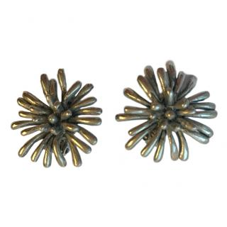 Oscar De La Renta Modernist Vintage Earrings