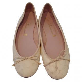 54efda9d9e9a Pretty Ballerinas snakeskin-effect ballet flats