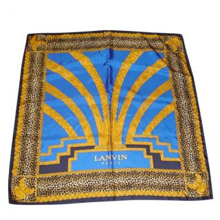 Lanvin Art Deco-Print Large Silk Scarf