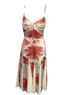 Amanda Wakeley Satin & Chiffon Printed Dress