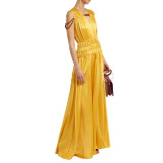 Roksanda Brona gathered rope-detail silk-satin gown