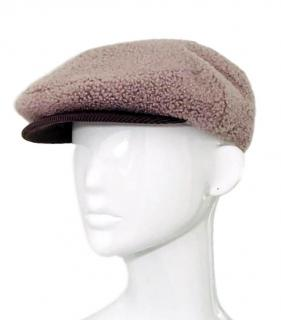 Hermes Shearling Baker Boy Hat