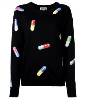 Moschino pill print wool jumper