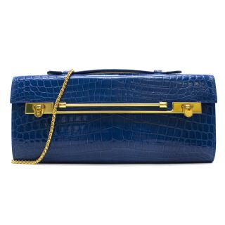 Kwanpen Tanzanite Croc Raffles 1819 Clutch - Current Season
