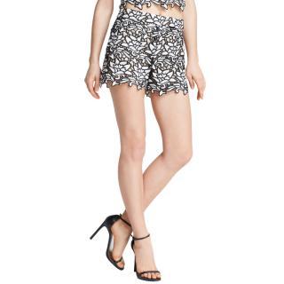 Alice + Olivia Floral Crochet Shorts