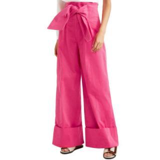 Paper London Twin Stretch-cotton Corduroy Wide-leg Trousers