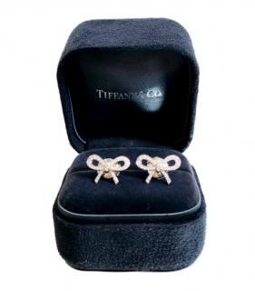 Tiffany & Co Diamond Encrusted Platinum Earrings