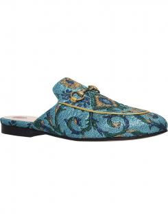 premium selection 9a05d d15af Gucci Princetown Chinoiserie jacquard slippers