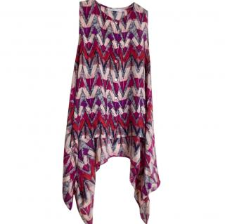 See by Chloe Abstract-Print Sleeveless Blouse