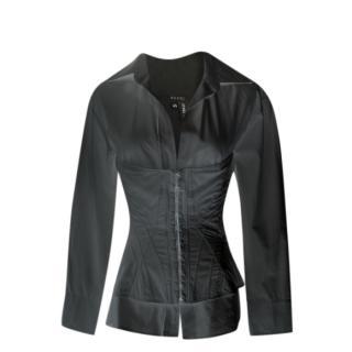 147e17a3cbd Gucci Runway Corset Black Shirt size 40