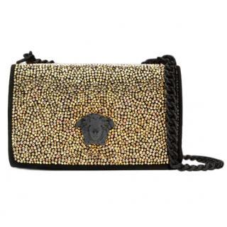 Versace Stud-Embellished Suede Cross-Body Bag