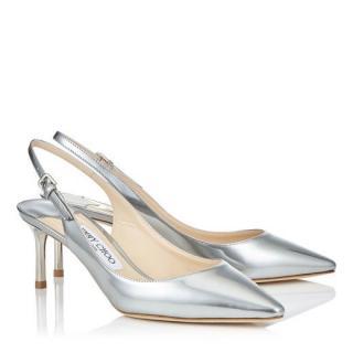 524cfeb68f2 Jimmy Choo  Erin  Mirror Slingback Sandals