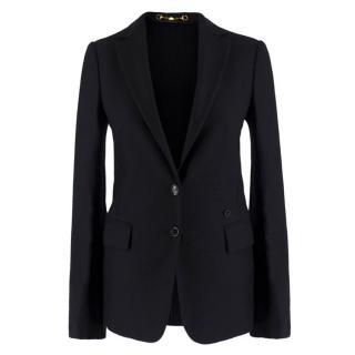 1d898afd672 Gucci Black Wool   Cashmere-blend Blazer