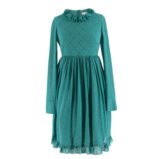 Manoush Teal Green Rhinestone Embellished Dress