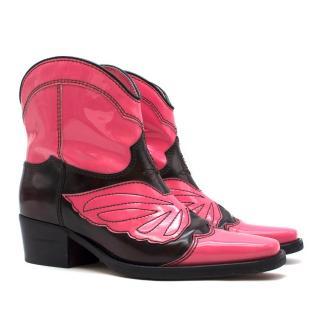 Ganni Low Texas Ankle Cowboy Boots - New Season