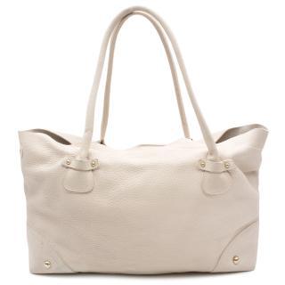Dolce & Gabbana Cream Leather Shoulder Bag