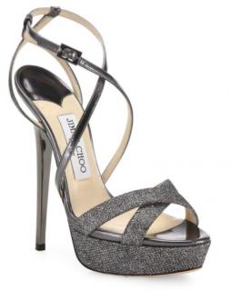 Jimmy Choo Liddie 145 Glitter Platform Sandals