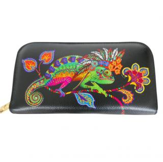 Etro Chameleon-Print Zip-Around Wallet