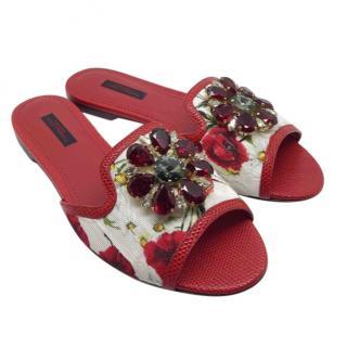 f3be2030b Dolce   Gabbana Crystal-Embellished Slides