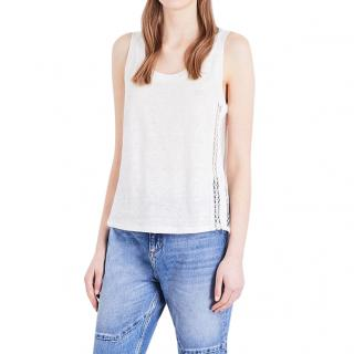 Sandro Lord Lace-Insert Tank Top